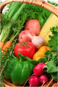 fresh vegetables are natural fat burners